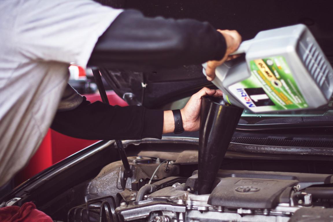 Výmena motorových olejov