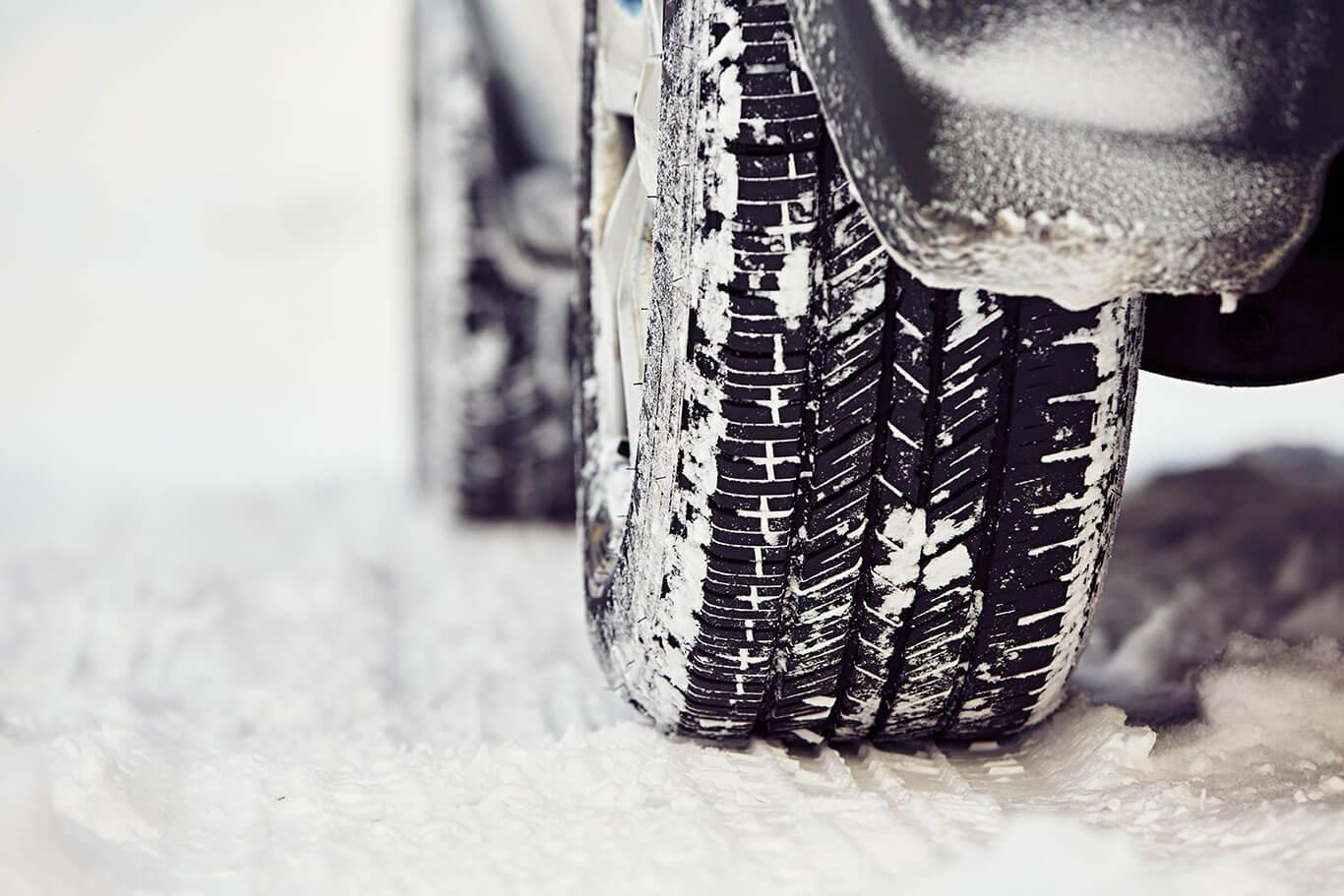 zimna guma na snehu